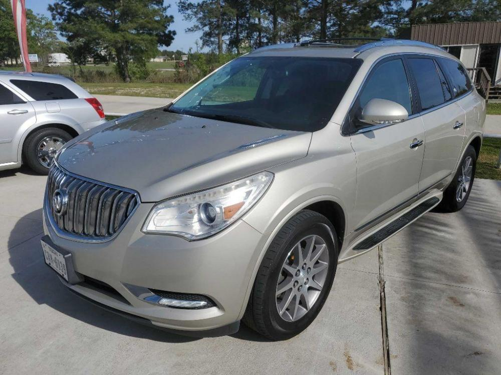 2013 Gold BUICK ENCLAVE (5GAKRCKD5DJ) with an 3.6L engine, Automatic transmission, located at 3553 US Hwy 190 W., Livingston, TX, 77351, (936) 967-8141, 30.812162, -95.077309 - Photo #0