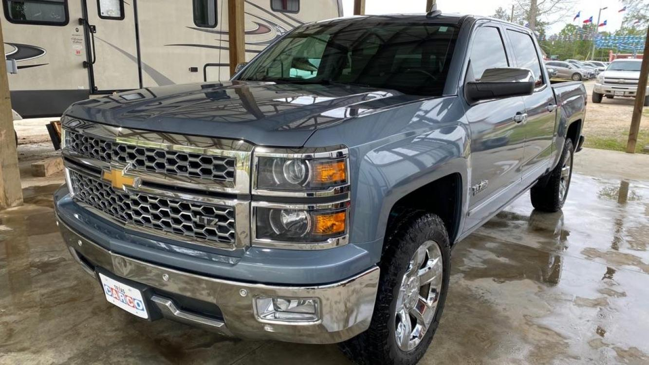 2015 Blue CHEVROLET SILVERADO 1500 LTZ (3GCPCSEC0FG) with an 5.3L engine, Automatic transmission, located at 3553 US Hwy 190 W., Livingston, TX, 77351, (936) 967-8141, 30.812162, -95.077309 - Photo #0