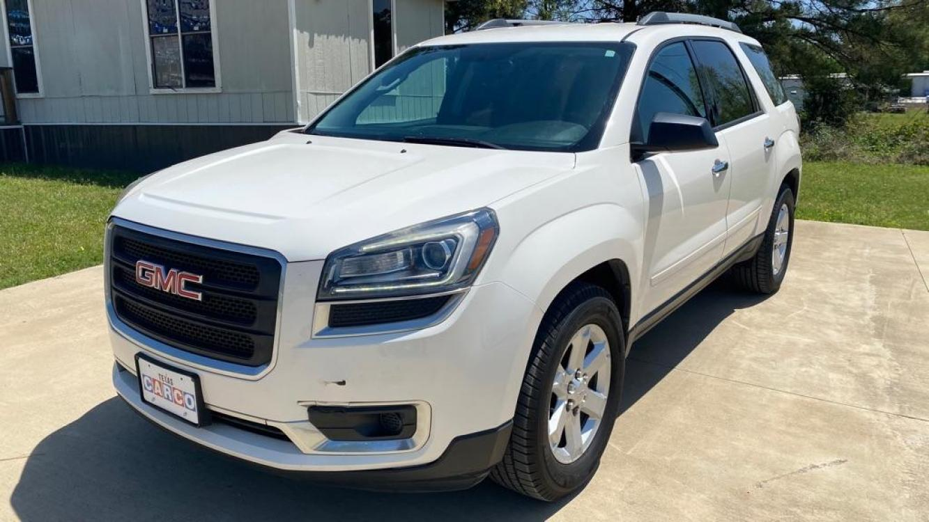 2013 White GMC ACADIA SLE (1GKKRPKD4DJ) with an 3.6L engine, Automatic transmission, located at 3553 US Hwy 190 W., Livingston, TX, 77351, (936) 967-8141, 30.812162, -95.077309 - Photo #0