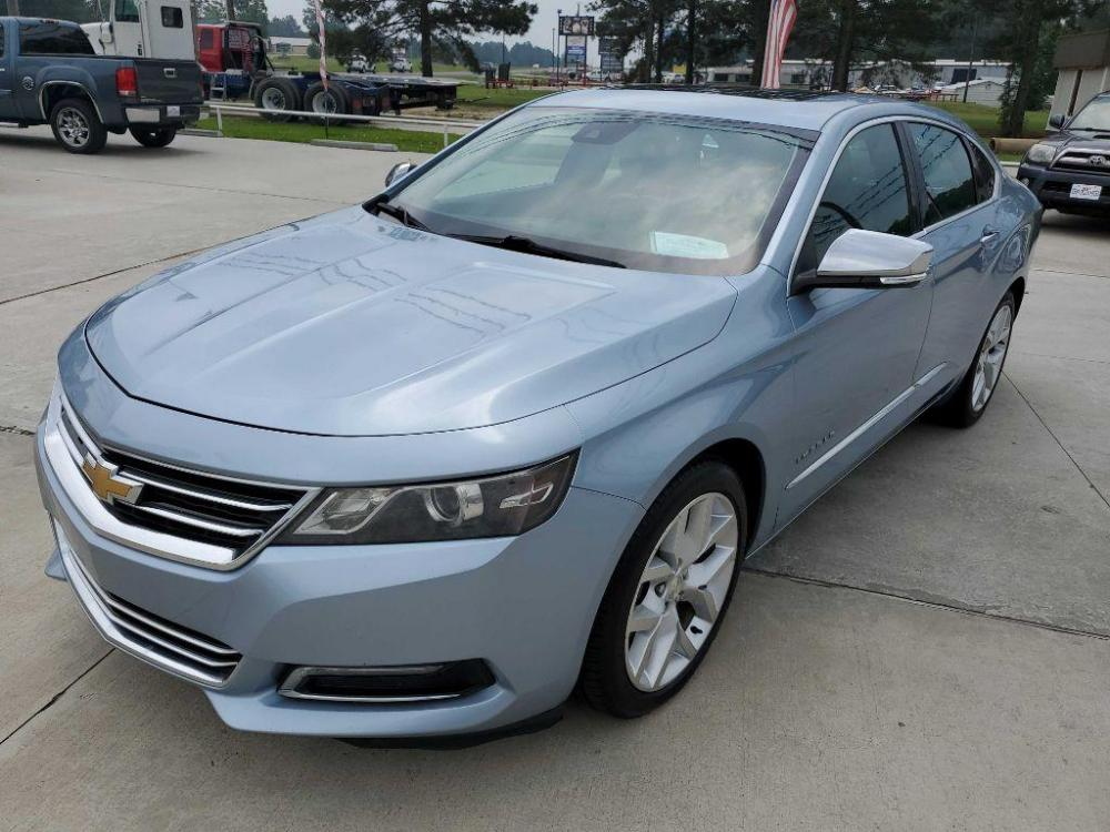 2014 Blue CHEVROLET IMPALA LTZ (1G1155S39EU) with an 3.6L engine, Automatic transmission, located at 3553 US Hwy 190 W., Livingston, TX, 77351, (936) 967-8141, 30.812162, -95.077309 - Photo #0